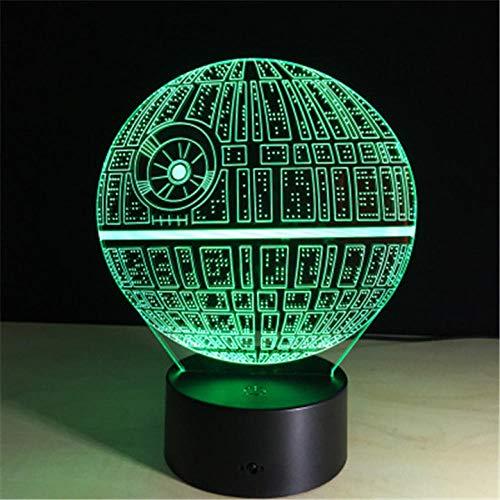 Star Wars DS-1 Platform Star Light Night Light 3D Touch Switch 7 kleuren tafellamp