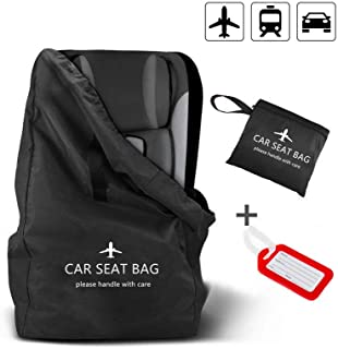 Car Seat Bag, Large Gate Check Travel Luaage Bag, Car Seat Cover Storage Bag Stroller Carrier with Shoulder Straps, Waterproof Carseat Carrierfor Airplanes Trains Univeral Size