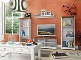 Loft24 Möbel Wohnwand York 2 Bücherregale a us Kiefer in gebeizt geölt, weiß & Honig, weiß (weiß & Honig)