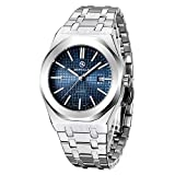 BERSIGAR Herren Stylish Sophisticated Quarzuhr Herren Analog Quartz Wrist Watch Edelstahlarmband, wasserdicht 30M