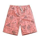 Mens Ultra Quick Dry Sailboard Sketch Fashion Board Shorts Medium 33-34