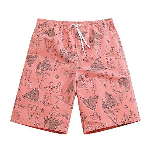 Mens Ultra Quick Dry Sailboard Sketch Fashion Board Shorts X-Large 36-37