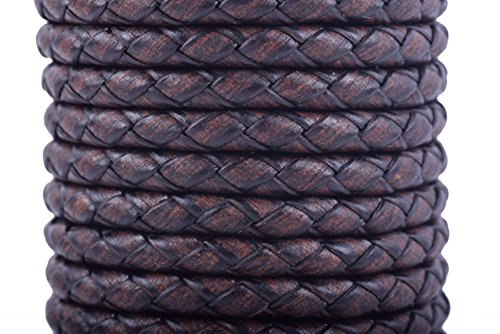 Bright Creations Braided Leather String Cord 11 Yards Black
