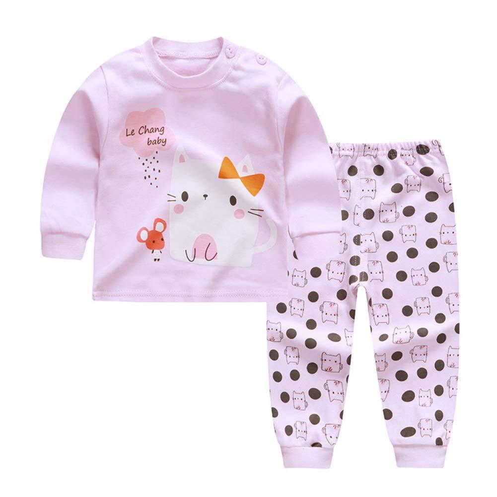 Bébé Chaud Vêtements de Nuit Enfants Garçons Filles 2 Pcs Manches Longues Coton Pyjamas Ensembles Naissance Bébé Fille Pyjamas