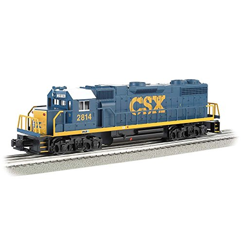 Bachmann Industries General Motors GP 38 Scale Diesel Locomotive CSX 2814 (Dark Future) O Scale Train