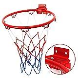 Hängender Basketball Wandhalterung Tor Hoop Basketball Felge Sportnetz Mit Netzschraube Für Den Außenbereich Innen 12,6 Zoll