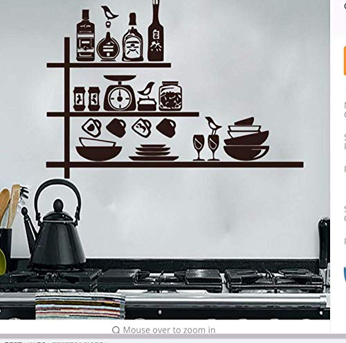 Creatieve Servies Specerijen Planken Muursticker Keuken Muurdecoratie Waterdichte Vinyl Verwijderbare Muursticker 44 * 64Cm