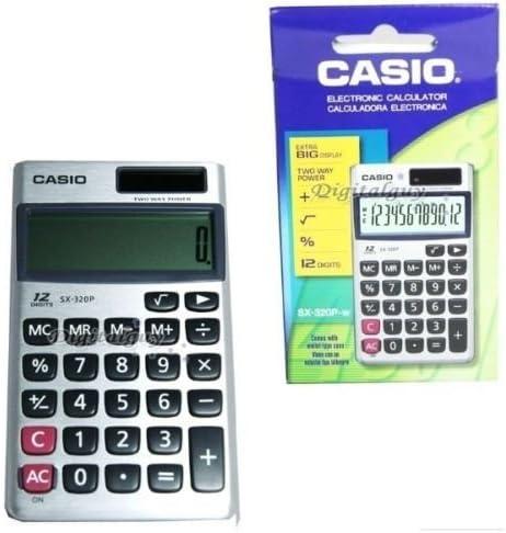 Casio SX-320P-w Calculator Cash special price 12Digits Type National uniform free shipping Portable GENUINE SX320P