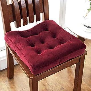 Waigg Kii Cojines cuadrados para silla de asiento, cojines acolchados para silla, 40/45/50 cm, cojines suaves para el jardín, hogar, interior exterior (rojo, 50 x 50 cm)