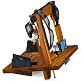 Wooden Docking Station Wallet Stand Watch Organizer Men's Christmas Birthday for Men Him Father's Day Present Desk Organizer Wood Bed Side Valet Tray Nightstand with Built Mirror