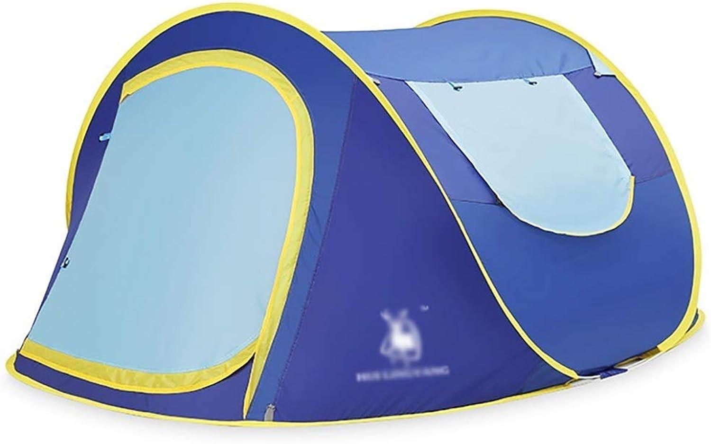 Tent, rainproof sunscreen Camping Zelte, Instant Pop Up 2 Personen Paar Zelte, wasserdichte Backpacking Zelte mit Tragetasche für Outdoor Camping Wandern Strand Sport