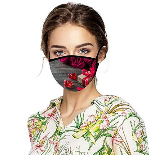 Eaylis Erwachsene Multifunktionstuch Mundschutz Neujahrsmuster Print Maske Waschbar Wiederverwendbar Atmungsaktiv Halstuch Schals für...