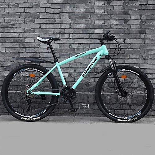 TRGCJGH Mountain Bike per Adulti 26' Bicicletta in Acciaio al Carbonio con Doppio Freno A Disco Mountain Bike 21/24/27/30 velocità,E-21speed