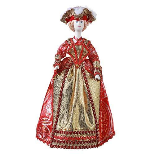 danila-souvenirs Russische handgemaakte porseleinen pop in de jurk van de adelaar 27,5 cm 25-17