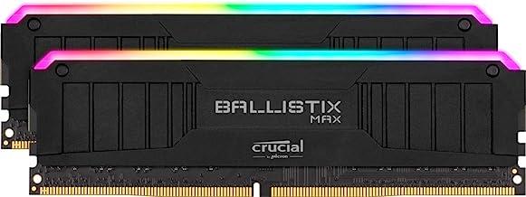 Crucial Ballistix MAX RGB 4400 MHz DDR4 DRAM Desktop Gaming Memory Kit 32GB (16GBx2) CL19 BLM2K16G44C19U4BL (Black)