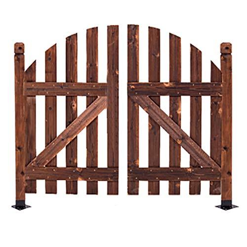 QBZS-YJ Zaun Tür Zaun-Panel Holz Vertikale Garten Innenhof Border Palisade aus Holz Gartentor Sonnenschein Stil (Size : L130CM*1.5CM*120CM)