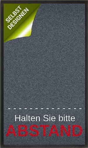 mymat Fußmatte mit Hinweis - Halten Sie Bitte Abstand - individuelle Bedruckung möglich - Hinweismatte
