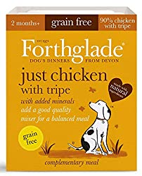 Pack of 18 natural grain free wet dog food in 395g trays. Very high meat content of 90% which provides a great source of protein for your dogs aged 2 months and above Our complementary dog food is grain free which is perfect for dogs with sensitive t...