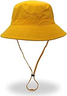 LPKH Unisex Outdoor Bucket Hat Fisherman Hat Sun Hat Wide Brim Summer UV Protection Beach Hat -Foldable Adjustable Chin Strap hat (Color : Yellow)