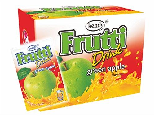 Frutti Instant Getränkepulver ohne Zucker - Geschmackrichtung: Green Apple Grüne Apfel 24er Packung