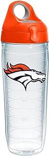 Tervis NFL Denver Broncos Primary Logo Tumbler with Emblem and Orange Lid 24oz Water Bottle, Clear