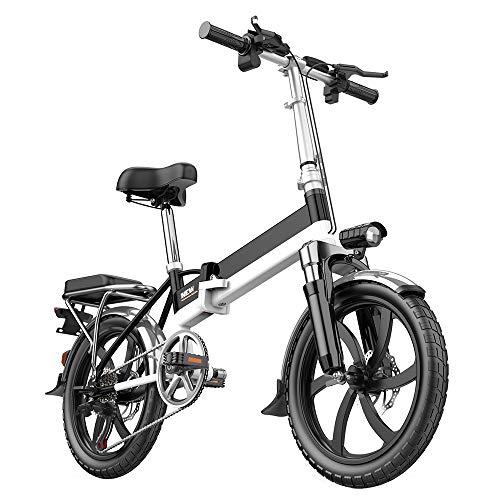Bicicleta EléCtrica Plegable para Adultos De 20 Pulgadas 6 Velocidad Variable 280 W Velocidad del Motor 25 Km/H 140 Km ConduccióN De Larga Distancia 48V12AH BateríA ExtraíBle