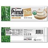Primal Thin Protein Bars w/ 20g Organic Protein Grass Fed Whey (130 Cal, 1g Sugar, 1 Net Carb) (Gluten Free) (12 Bars)