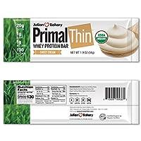 Julian Bakery PrimalThin プライマルシン ホエイタンパク質バー スイートクリーム 12本 648g 1 43lbs