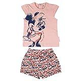 Cerdá Conjunto Bebe Niña Verano de Minnie Mouse Disney - 3 Meses - Camiseta + Pantalon de Algodon Juego Cortos, Rosa, Bebé-Niñas