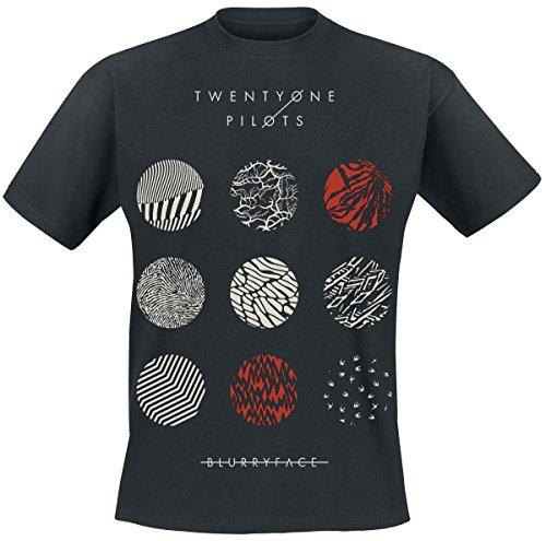 Twenty One Pilots Pattern Circles T-Shirt black