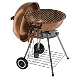 VENYN Original Kettle Premium Portable Charcoal Grill for Outdoor Grilling 18inch - Barbeque Grill and Smoker for Outdoor Picnic, Patio, Backyard & Camping - Steel Cooking Grate