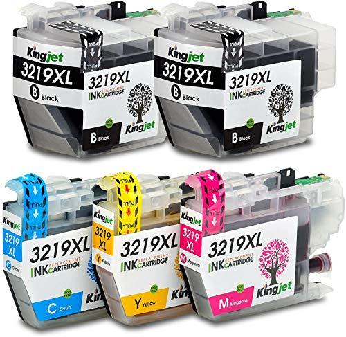 Kingjet LC3219XL Tintenpatronen Kompatible für Brother LC-3219XL LC3219XL LC3217 Druckerpatronen für Brother MFC-J5330DW MFC-J5335DW MFC-J5730DW MFC-J5930DW MFC-J6530DW MFC-J6930DW MFC-J6935DW