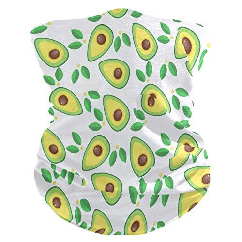 asdew987 Diadema con patrón de aguacate de frutas, bandana, máscara facial, polaina para cuello, bufanda mágica, pasamontañas para mujeres, hombres, niños y niñas