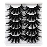 ALICROWN False Eyelashes 20MM Fluffy Crossed Luxury Volume Faux Mink Lashes 5D Thick Full Soft Handmade Lashes Pack