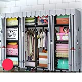 Closet Storage Closet Clothes Portable Gerente de Almacenamiento Oxford Storage Rack Gran guardarropa portátil Mejorado y ampliado guardarropa Durable Armario Wardrobe Closet Organizer Shelf Wardrobe