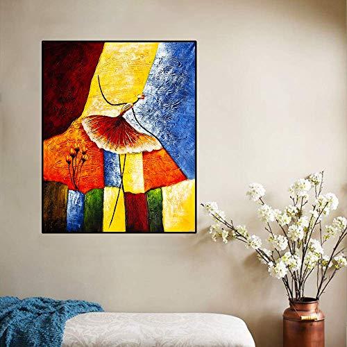 LPaWD Modern Home Decoration Poster und Drucke Abstrakte Aquarell Balletttänzer Leinwand Malerei Wandkunst Wandkunst Bilder Wohnzimmer Home A1 50x70cm