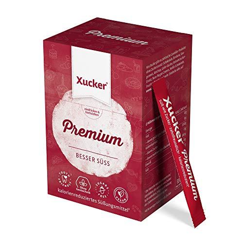 200 g Xucker Premium Sticks in Schachtel (50 × 4 g) | Birkenzucker von Xucker | 50 Sticks | Zuckerersatz für Unterwegs | 40 % weniger Kalorien als Zucker