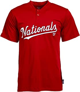 Majestic MLB Men's Cool Base Team Henley T-Shirts (Multiple Teams)