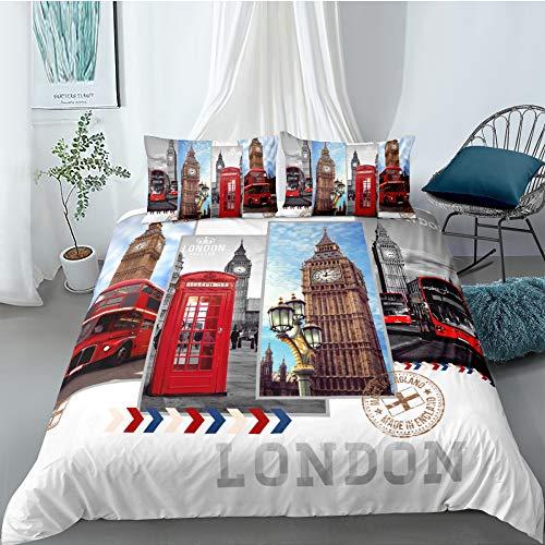 MMHJS 3D-Landschaftsmuster Bettbezug 3Er-Set Geeignet Für Schlafzimmer, Hotel, Zimmer Bettwäsche Elegante Und Schöne Einrichtungsgegenstände