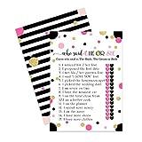 Brautparty-Spiele (25 Stück) He Said She Said Karten – Braut oder Bräutigam Said It – Guess Who Knows Couple Best Guessing Activity – Hochzeit – Verlobungsparty – Probe – Mod Chic
