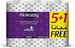 MULTI PURPOSE TOWEL - 5+1 ROLLS X 2 PLY X 60 SHEETS - PACK OF 4
