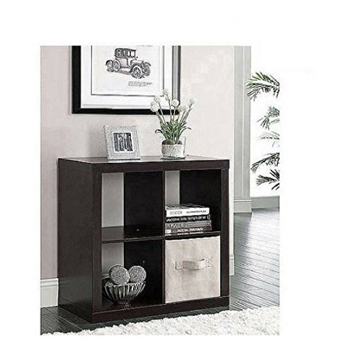 Storage Solution Better Homes and Gardens Square 4-Cube Organizer, Multiple Colors (Espresso) by Better Homes & Gardens