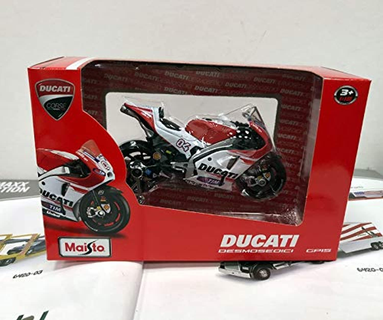 Generic MAISTO 1 18 Scale Ducati Desmosedici Racing Motorbike Diecast Metal Motorcycle Model Toy for Gift Kids Collection NO 4