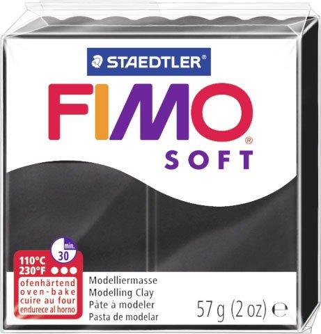 Papieto Pâte à modeler Original FIMO Soft 57 g 29 couleurs au choix Noir (9)