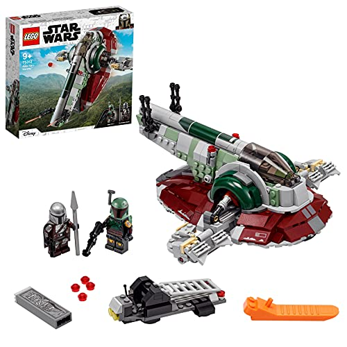 LEGO 75312 Star Wars Nave Estelar de Boba Fett, Juguete de Construcción para Niños a Partir de 9 Años, Modelo Mandalorian con 2 Minifiguras