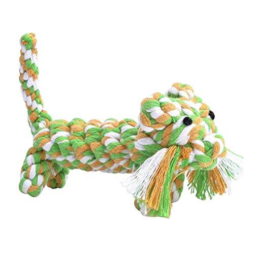 Comic ueetek chiot du pet mâcher corde Jouets pour le petit chien qui mord les dents nettoyage Toy (Random Color)