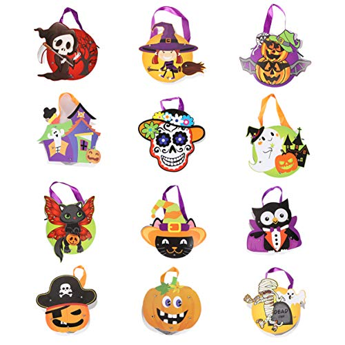BESPORTBLE Pack of 12 Halloween Candy Bag Present Pouch Paper Gift Bag Candy Pouch for Children Kids Toddler