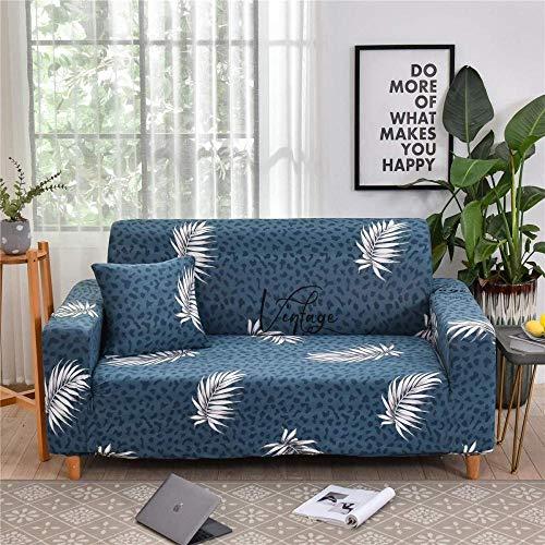 HFTYCC Funda de sofá Antideslizante elástica de 1 a 4 plazas Funda de sofá Suave elástica Fundas Estampadas Florales Fundas de decoración del hogar Protector de sofá-2 plazas_ Plantas Tropicales