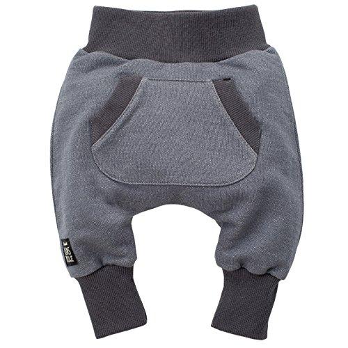 Pinokio - Happy Day - babybroek 100% katoen zwart - joggingbroek, harembroek pompbroek slipbroek elastische band, unisex