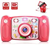 Victure Kids Camera Digital Rechargeable Selfie Action Camera 1080P HD 12MP with 16GB